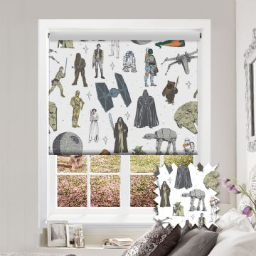 Star Wars™Characters Roller Blind Patterned Star Wars™ Blackout Fabric